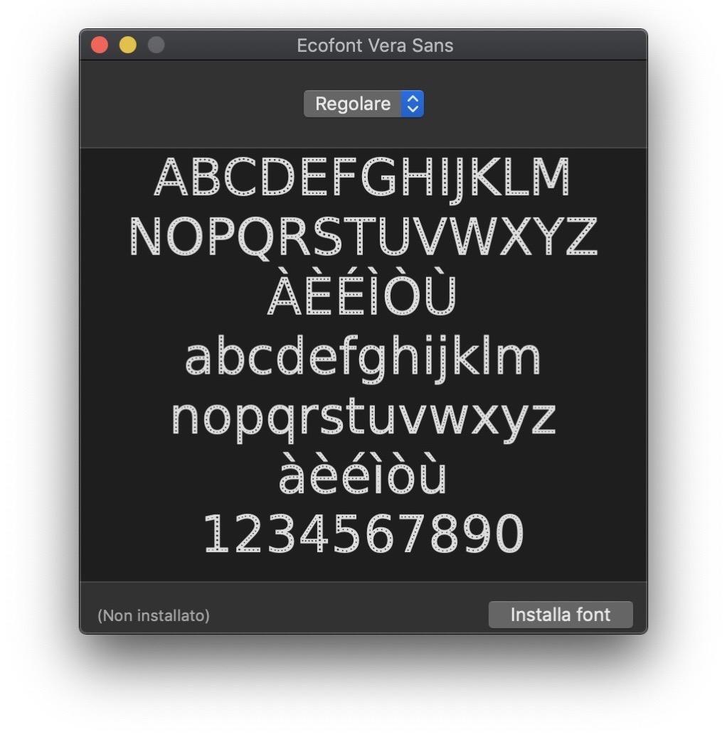 Ecofont Libro font