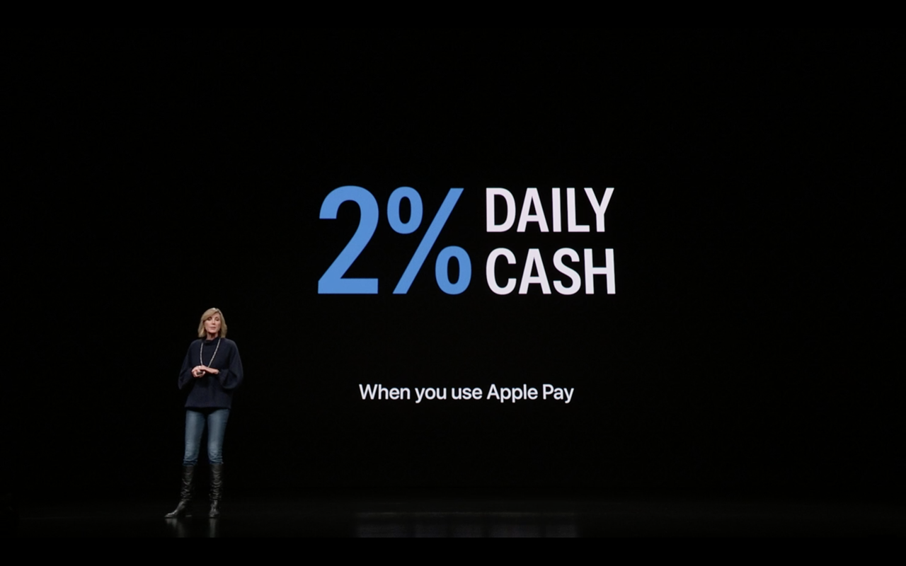 Apple Card 2 per cento
