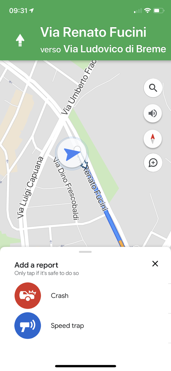 Google maps crash