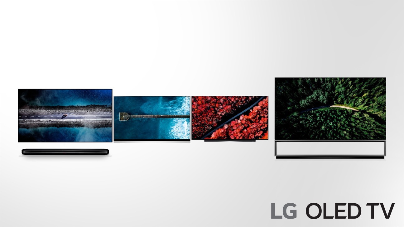 LG OLED TV 2019 adopting more powerful AI 4 W9 E9 C9 Z9 from the left side