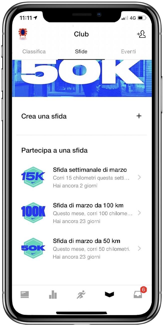 """Nike + Run Club per iOS guadagna un nuovo """"motivatore""""  le sfide ... 1dfc4d1a606e"""