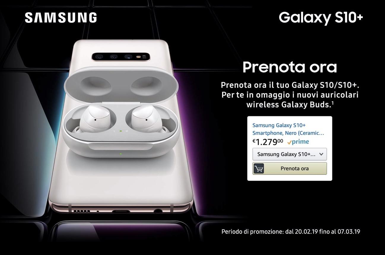 Preordini Galaxy S10