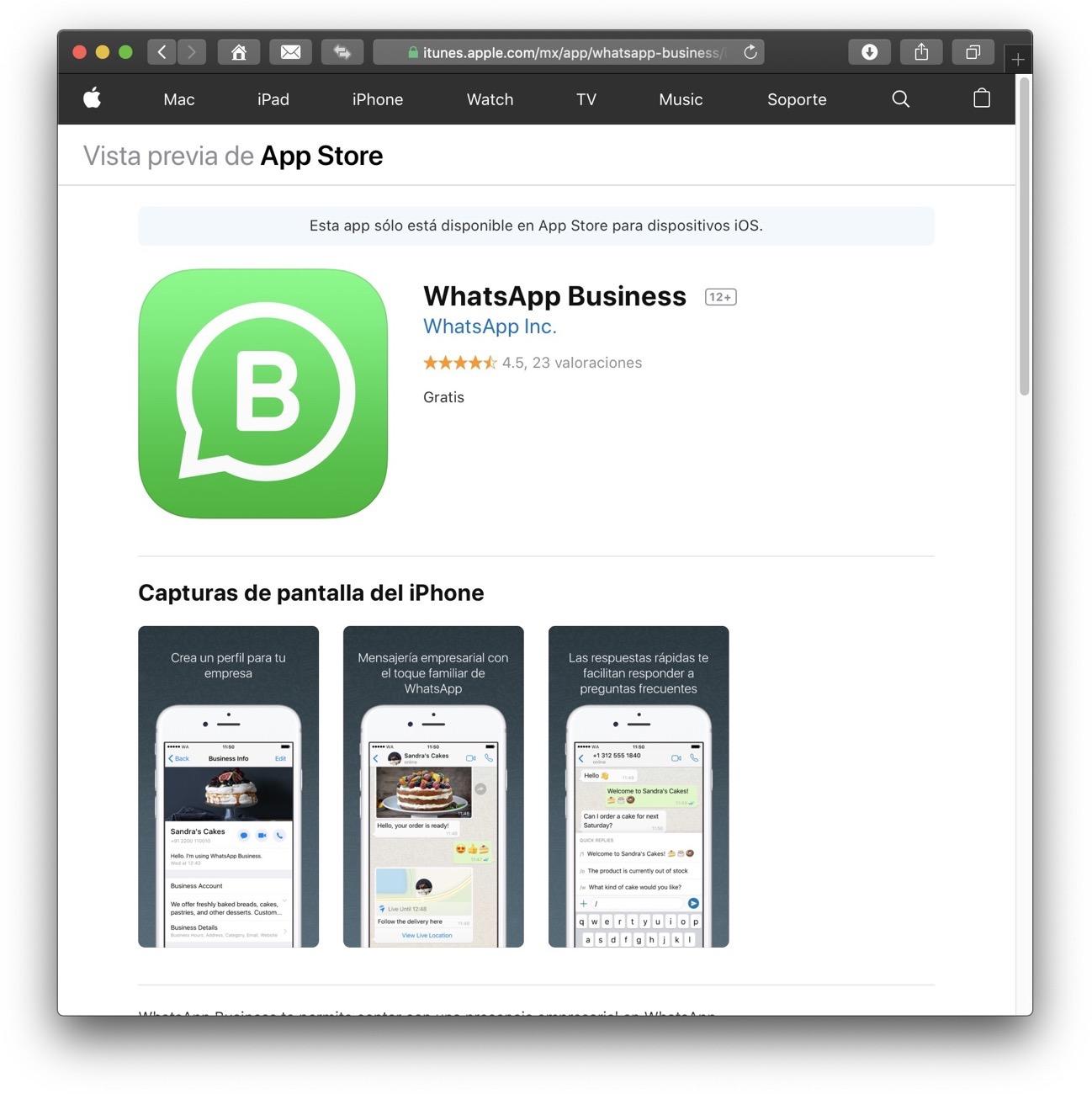 WhatsApp Business App Store