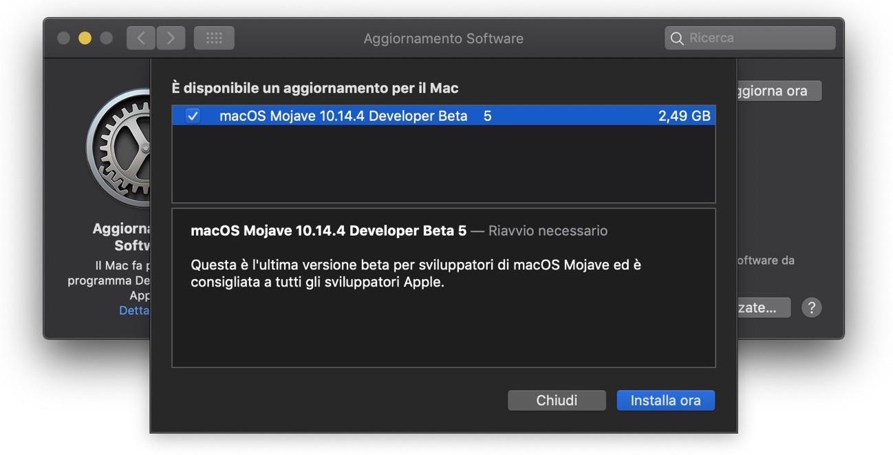 MacOS Mojave 10 14 4 beta 5