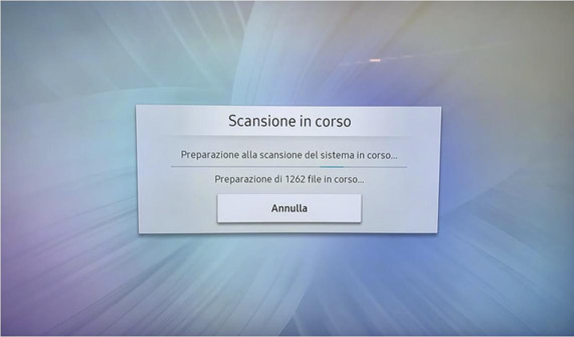 Scansione virus tv samsung