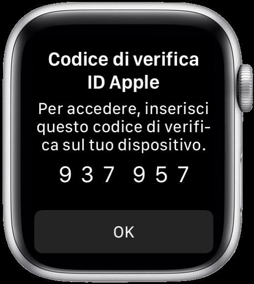 WatchOS 6 codice verifa