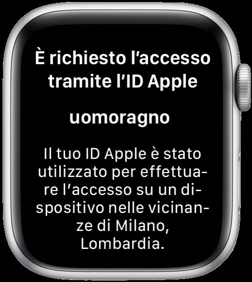 WatchOS 6 codice verifica ID