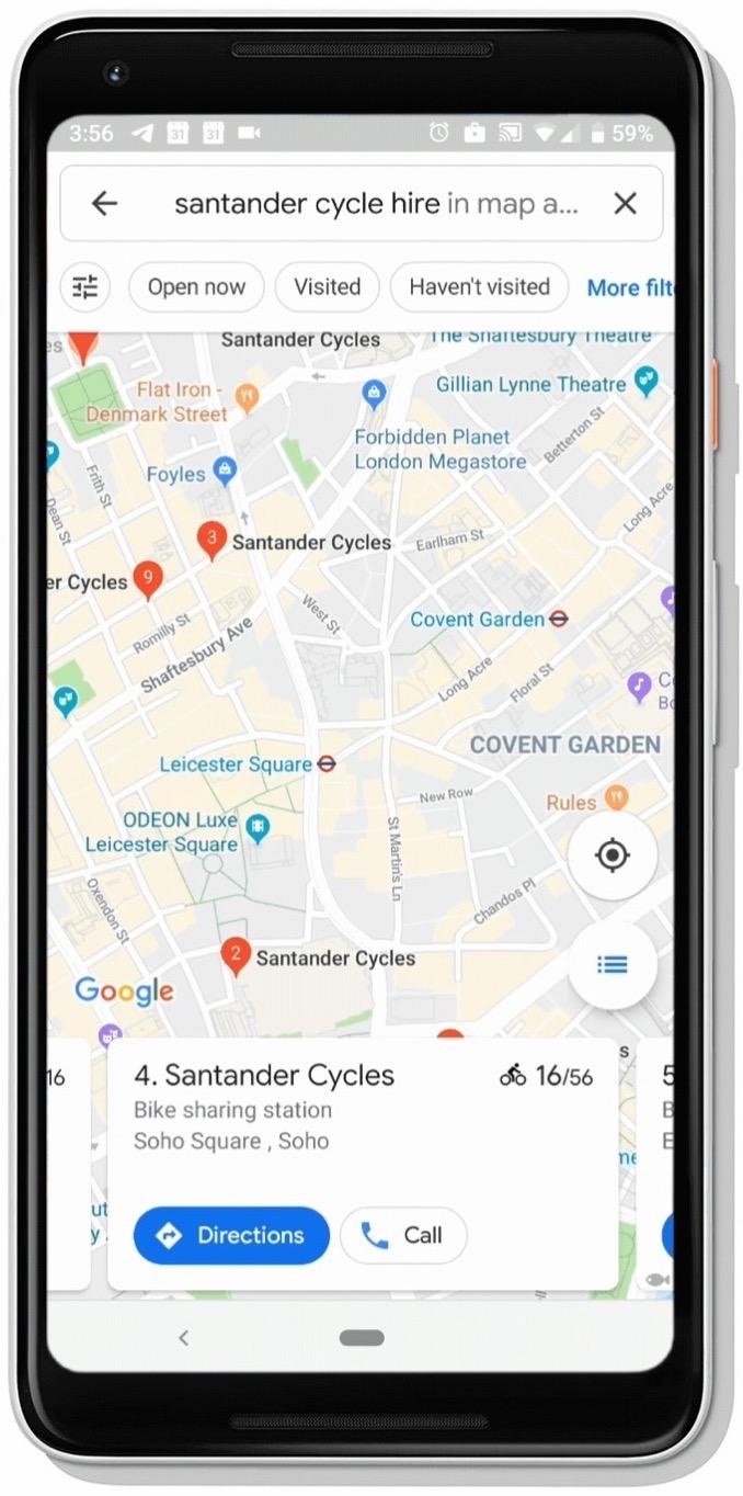 Google Mpas biciclette