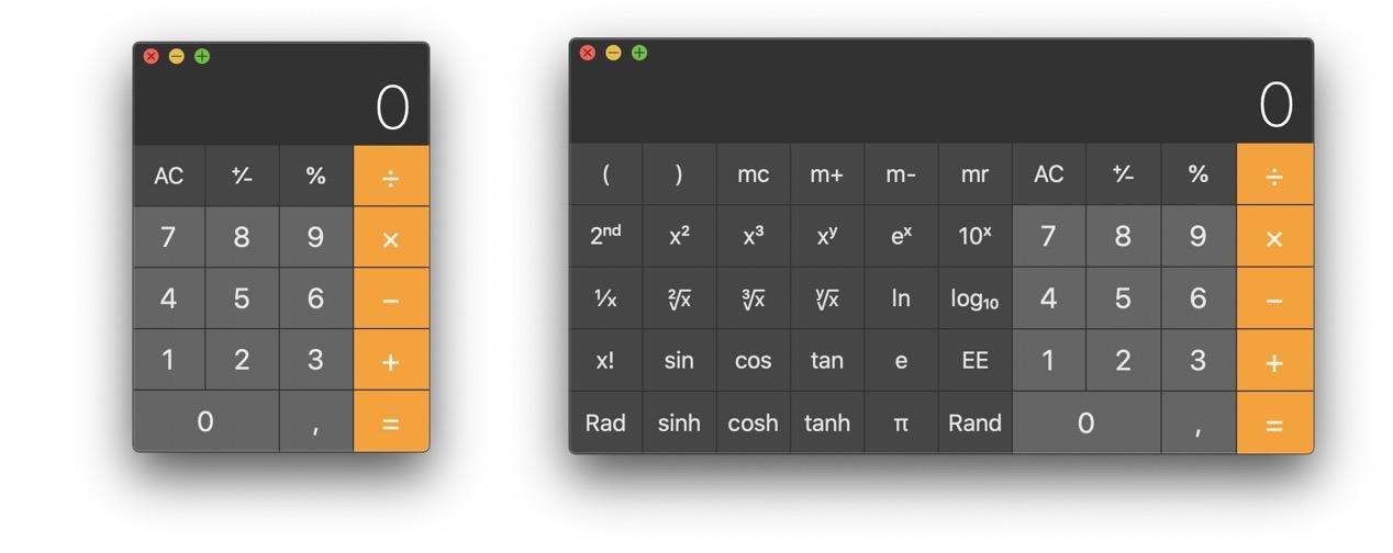Calcolatrici Mac