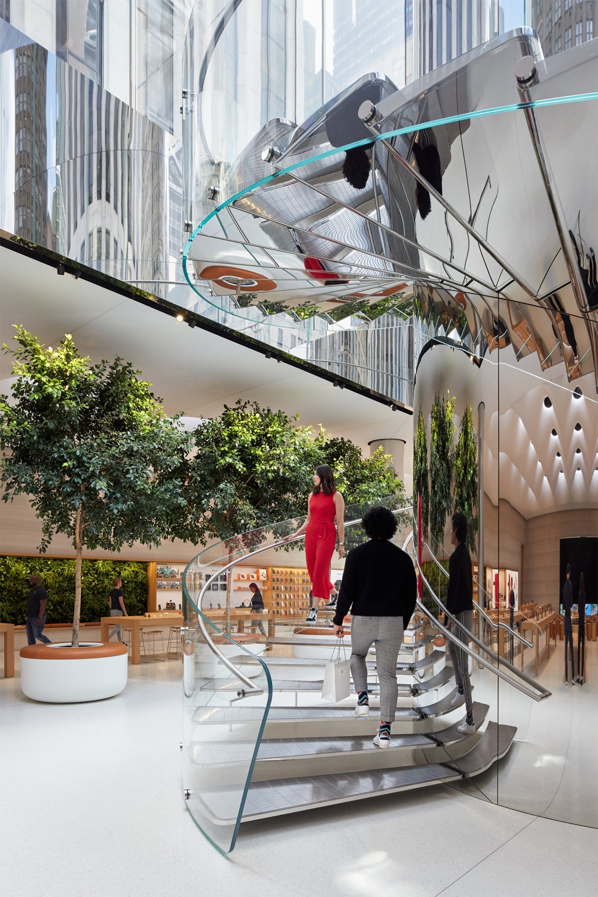 Apple Store fifth avenue new york redesign staircase 091919
