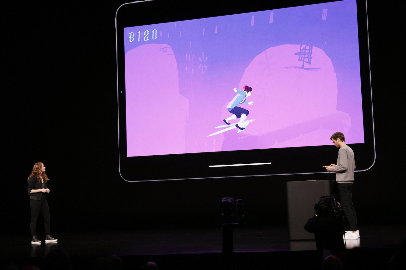 Apple Keynote Event Kelsey Hansen presents Sayonara Wild Hearts 091019