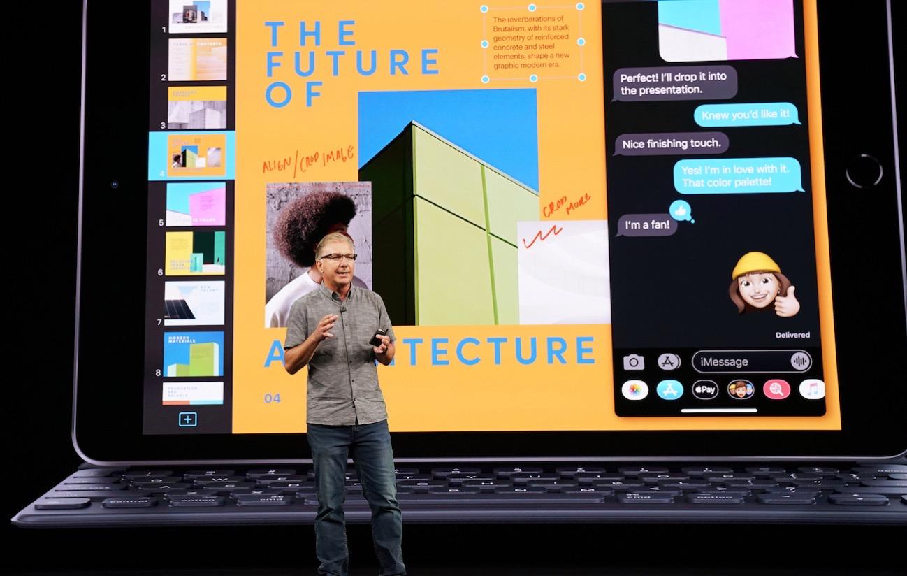 Apple keynote event greg joswiak unveils seventh generation ipad 091019