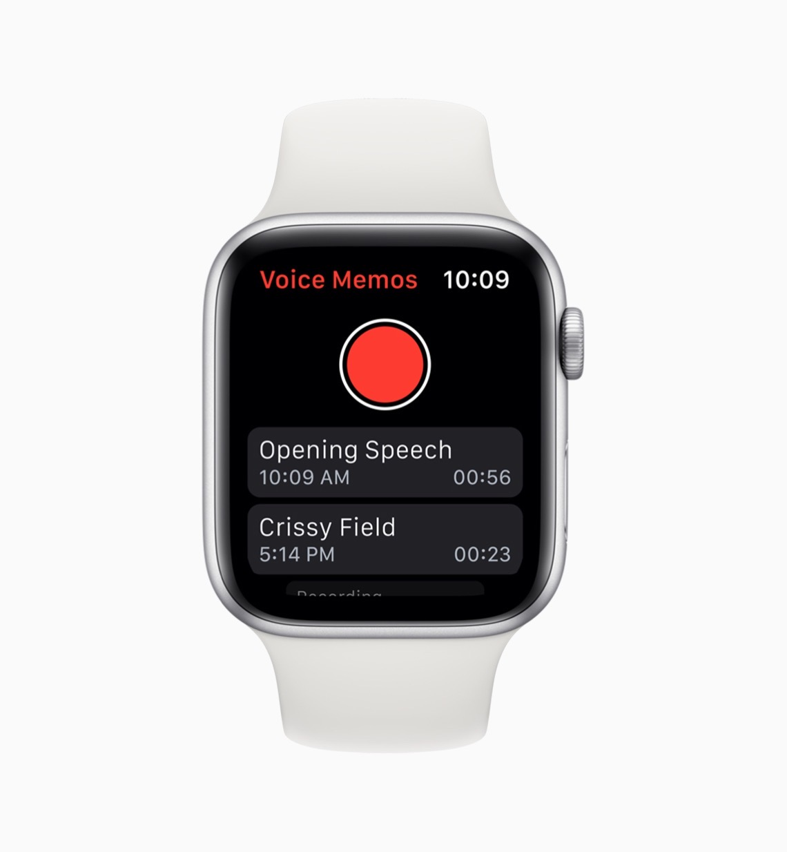 Apple watchos6 voice memos 060319