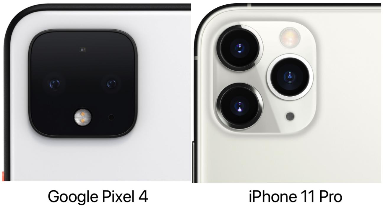 Google Pixel 4 iPhone 11 Pro