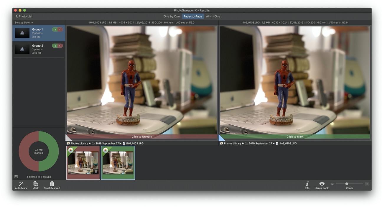 PhotoSweeper duplicati