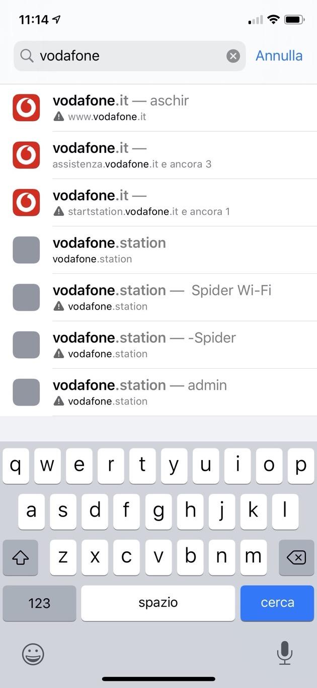 Ricerca nome wifi