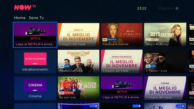 Now TV Netflix app