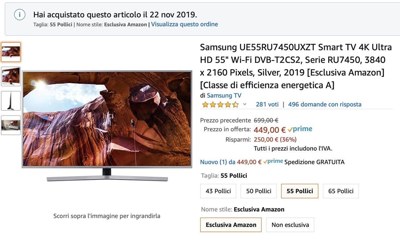 RU7450 4K Ultra HD 55