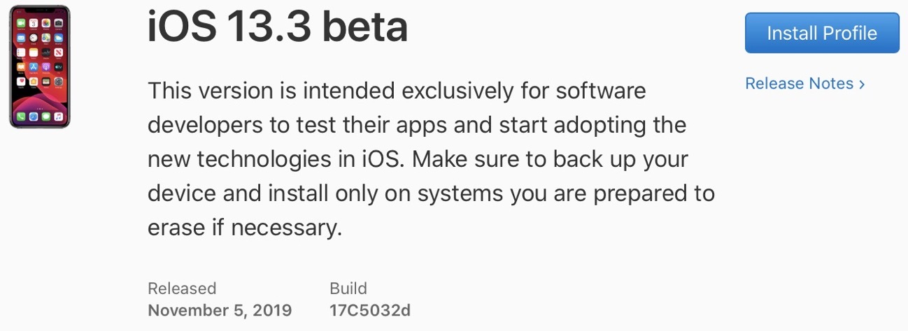 IOS 13 3 beta